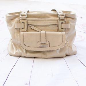 Tyler Rodan Cream Leather Shoulder Bag